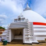 A Buddhist stupa at Kelaniya Temple